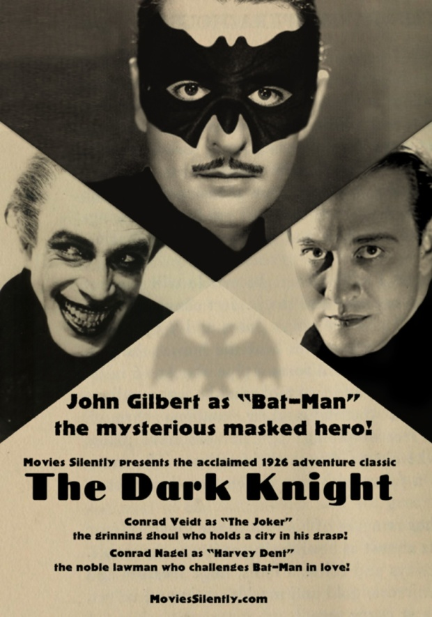 Movies Silently The Dark Knight 1926 silent movie poster